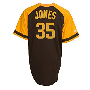Randy Jones San Diego Padres Replica Cooperstown Jersey by Majestic by Majestic