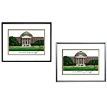 Southern Methodist University Undergrad Framed Collegiate Campus Lithograph