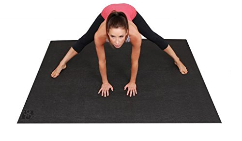 Large Yoga Mat 6ft x 4ft (72 Inch x 48 Inch) & 6mm Thick., Non-Toxic. Designed For Yoga & Stretching Without Shoes. Square36