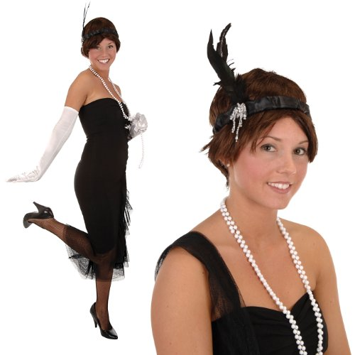 Flapper Headband Party Accessory (1 count) (1/Pkg)