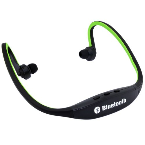 Generic Sports Wireless Bluetooth Headset Headphone Earphone For Cell Phone Iphone Laptop Pc Green