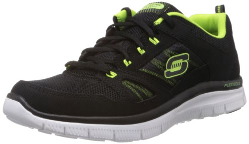 Skechers Flex Advantage Tune In, Sneaker uomo, Schwarz (Bklm), 43