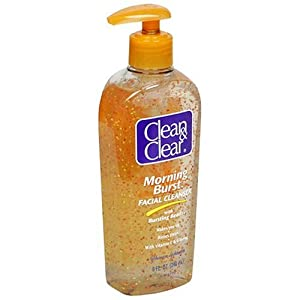 Clean & obvious Morning Burst Facial Cleanser with Bursting Beads, 8-Ounce Pump Bottles (Pack of 3)