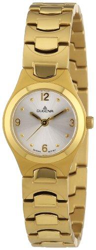 Dugena 4460443 - Reloj analógico de cuarzo para mujer con correa de titanio, color dorado