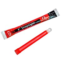 Cyalume SnapLight Industrial Grade Chemical Light Sticks, Red, 6&quot; Long, 12 Hour Duration (Pack of 10) from Cyalume Technologies, Inc.