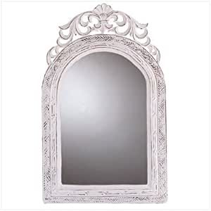 """20"""" Shabby Chic Wood Arched-Top Wall Mirror"""