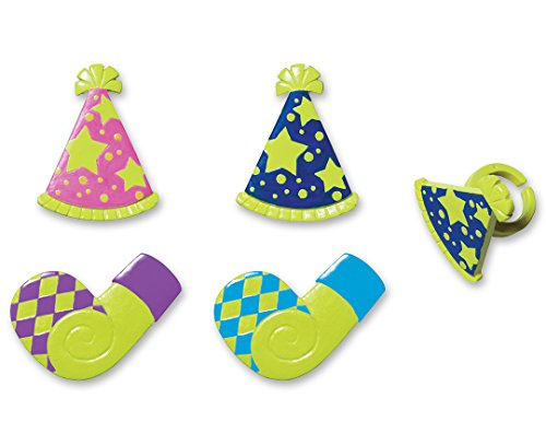DecoPac Party Hat & Horn Cupcake Rings (12 Count)