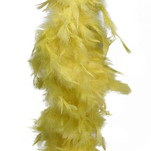 "Deluxe Large Yellow 72"" Costume Accessory Feather Boa [Apparel]"