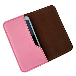 i-KitPit : PU Leather Flip Pouch Case Cover For HTC One S (LIGHT PINK)
