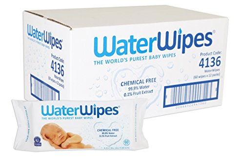 WaterWipes Sensitive Baby Wet Wipes, Natural & Chemical-Free, 12 packs of 60 Count (720 Wipes) (Newborn Wet Wipes compare prices)
