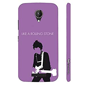Micromax Canvas Spark Q380 Like a Rolling Stone designer mobile hard shell case by Enthopia