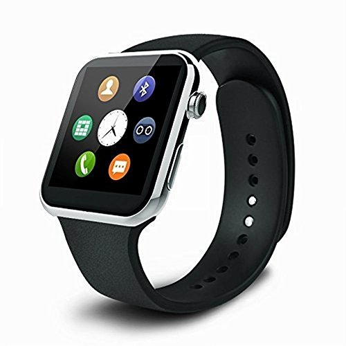 Pandaoo A9 Bluetooth Smartwatch for Iphone and Android Heart Rate Monitor smart watches IP67 waterproof for Android IOS (Silver) (siver)