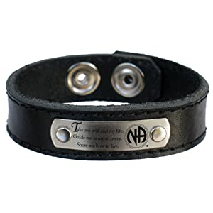 NA Third 3rd Step Prayer Leather Bracelet