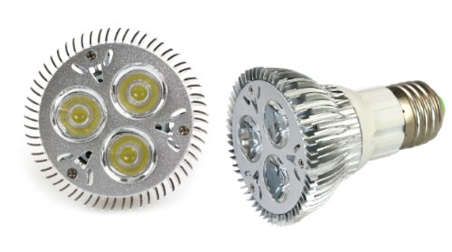 Lemonbest® Dimmable 9W E27 Socket Par20 Led Spot Light 110V-240V, Pack 10, Cold White