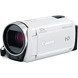 Canon VIXIA HF R600 Full HD Camcorder (White) Bundle, includes: 64GB SDXC Memory Card, Card Reader, 2-Hour Spare Battery, Pocket Tripod, CA-110 Compact Power Adapter, Small Camcorder Bag, Lens Cleaning Kit, Memory Card Wallet