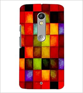 PrintDhaba Coloured Blocks D-4877 Back Case Cover for MOTOROLA MOTO X PLAY (Multi-Coloured)