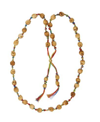 Adjustable Skull Bead Necklace on Multicolor String