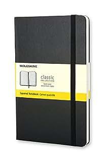 Moleskine Carnet quadrillé Format de poche Couverture rigide noire 9 x 14 cm