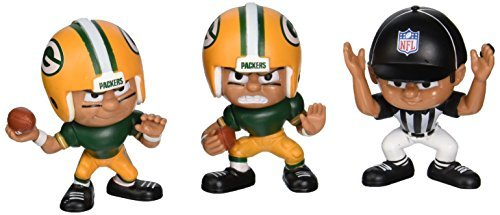NFL Green Bay Packers Lil' Teammates (Pack of 3) by Party Animal Toys (Lil Teammates Green Bay compare prices)