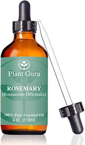 ? Rosemary Oil ?HUGE 4 oz ? Essential / Therapeutic Grade ? 100% Pure & Natural ? With Glass Dropper ? Grown in a Mediterranean environment.