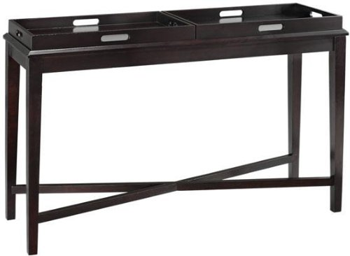 "Jackman Console Table With Tray, 30""Hx47.5""W, ESPRESSO"
