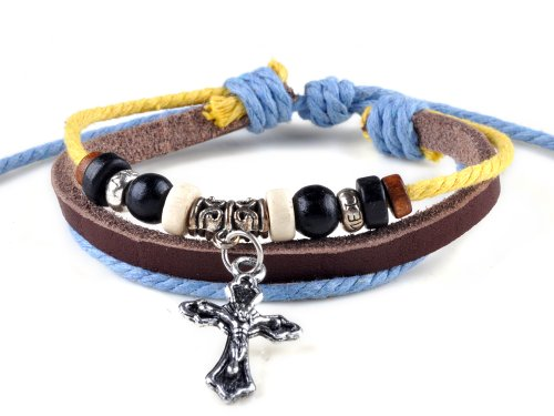Fashion PU Leather Ethnic Surfer Handmade Charm