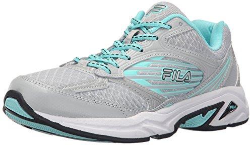 Fila Women's Inspell 3-W Running Shoe, Highrise/Aruba Blue/Black, 8 M US