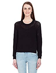 Elle Women's Body Blouse Shirt (Eefl0021_Black_Large)