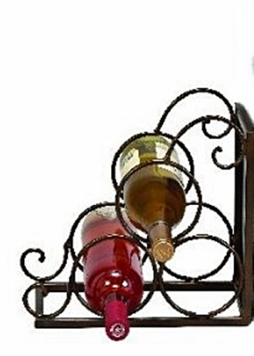 Metal Wine Rack And Bookend 12×11