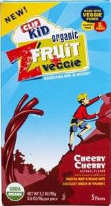 Clif Kid Organic Z Fruit And Veggie Cheery Cherry Snacks, 0.7 Ounce - 5 Per Pack -- 6 Packs Per Case.