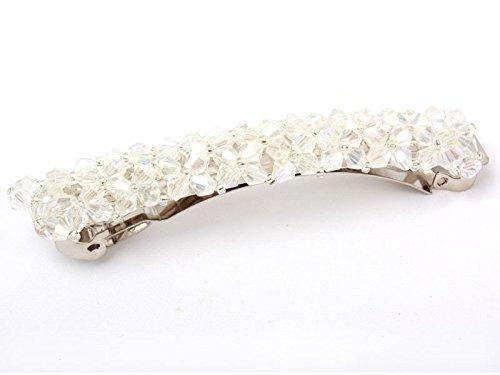 ヘアピン ラインストーン パール ビーズ 大人女性髪飾り 白色