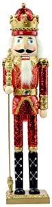 Kurt Adler 24-Inch Wooden Red and Gold Nutcracker from Kurt S. Adler Inc.