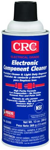 Crc Electronic Component Cleaner, 14 Oz Aerosol Can, Clear