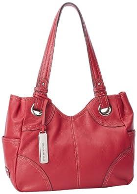 Tignanello Pebble Item T86705 Tote,Glam Red,One Size