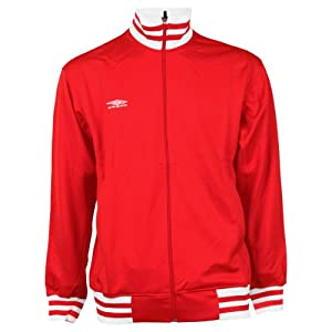 Umbro Solid Color Track Jacket - Red - Large