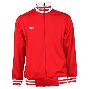 Umbro Solid Color Track Jacket - Red - Large