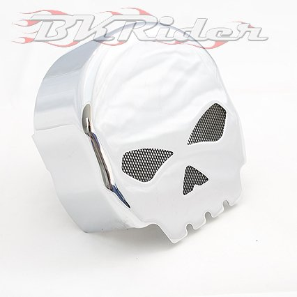 Willy G Style Skull Chrome Horn Cover For Harley-Davidson