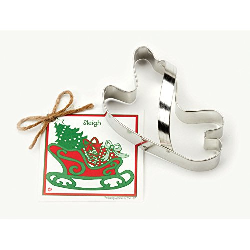 Sleigh Cookie and Fondant Cutter - Ann Clark - 5.1 Inches - US Tin Plated Steel (Elf From Santa Clause)