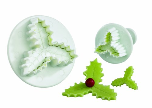 chrono-holly-leaf-pastry-cutter-triple-leaf-set-of-2