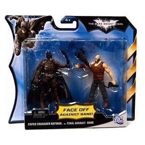 Mattel DC Batman Dark Knight Rises Movie Action Figure 2Pack Batman Bane at Gotham City Store