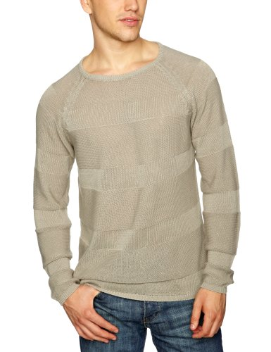 Selected Homme Jeans Gilles Crew Neck Men's Jumper Drizzle Small