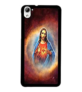 PrintDhaba Lord Jesus D-3751 Back Case Cover for HTC DESIRE 826 (Multi-Coloured)