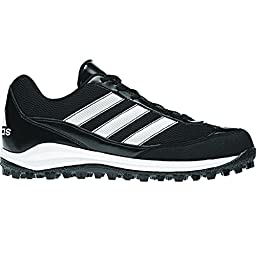 adidas Performance Men\'s Turf Hog LX Low Football Cleat, Black/White/Black, 10.5 M US
