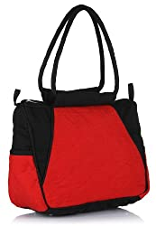 Home Heart Womens Handbag (Red&Black) (3198)