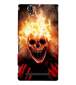 EPICCASE ghost rider Mobile Back Case Cover For Sony Xperia T2 (Designer Case)