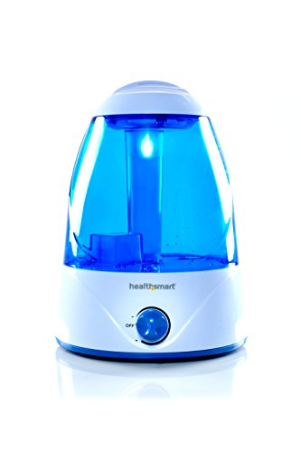 HealthSmart Cosmo Mist Cool Mist Ultrasonic Humidifier, Whisper Quiet, Runs 50 Hours, Filter Free, Blue (Humidifier No Filter Vicks compare prices)