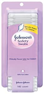 Johnson's Johnsons Safety Swabs, 185 Count (Pack of 2)