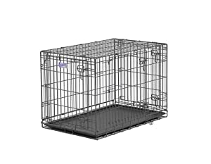 Midwest Select Triple-Door Dog Crate, 36 Inches by 23 Inches by 25 Inches