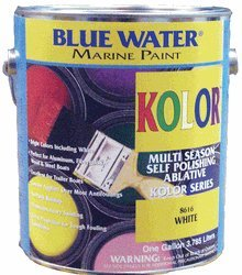 Kolor White Gallon - 5 Copper Thiocyanate Ablative - Marine Paint Antifouling Bottom Paint - iPaint.us (White Aluminum Paint compare prices)
