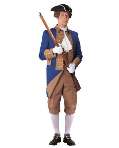 Mens Regency Collection Buff and Blue Soldier Costume S